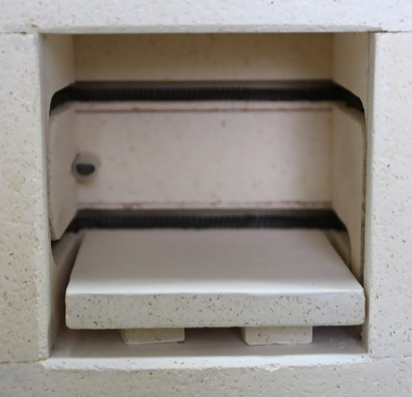 shelf with the post under it